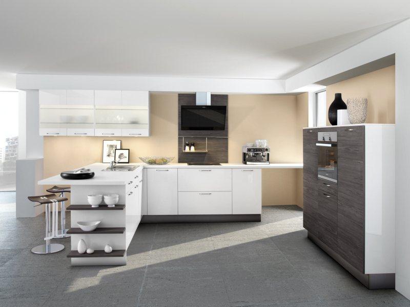 Küche Almandin Polarweiß von Küchen Quelle