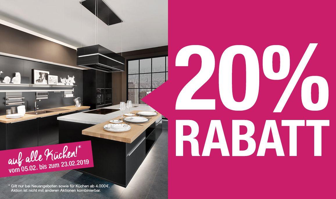 3dd98744d0b8ae alma KÜCHEN Aktion - 20% Rabatt auf alle Küchen 08.02.2019