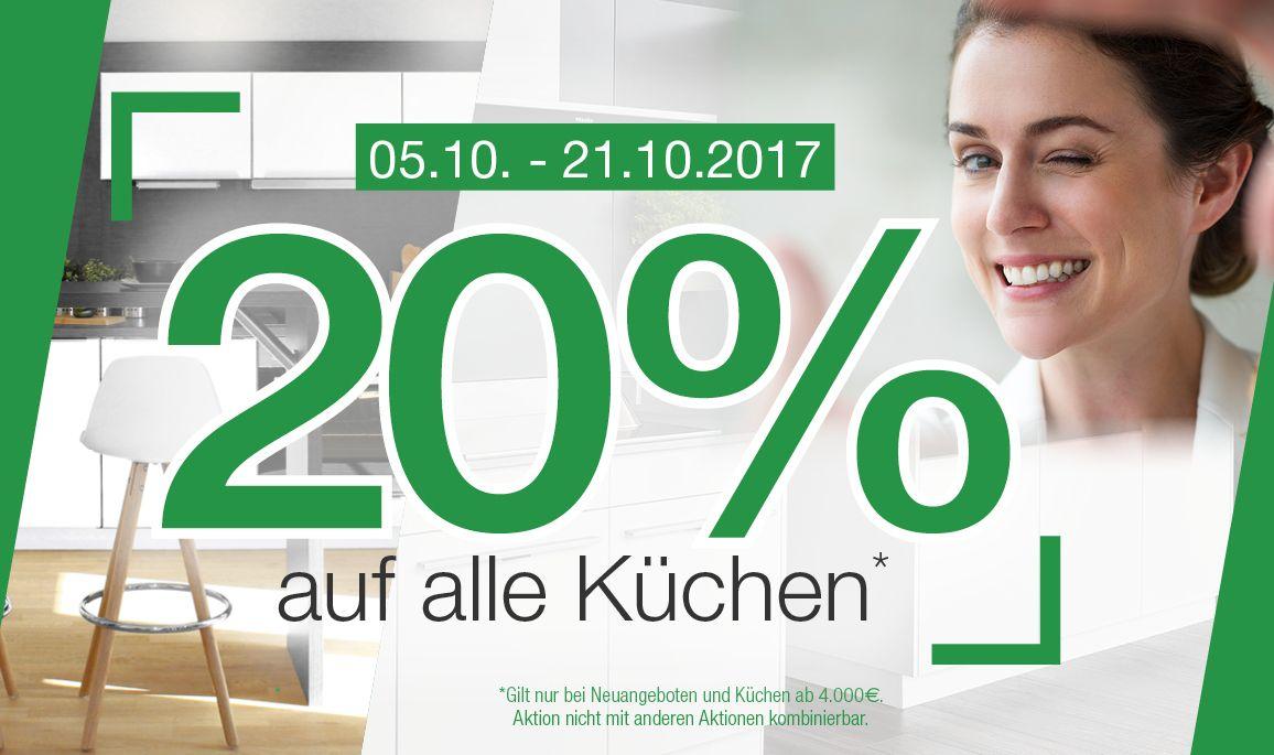 Schön Küchen Rabatt Ideen Von 20 Auf Alle Küchen Vom 05.10.2017 Bis
