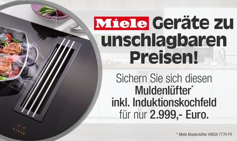 alma KÜCHEN Aktion - Muldenlüfter Miele für 2.999 €