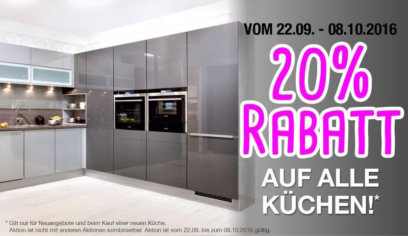 Alma küchen  alma KÜCHEN Aktion - 20% Rabatt auf alle Küchen