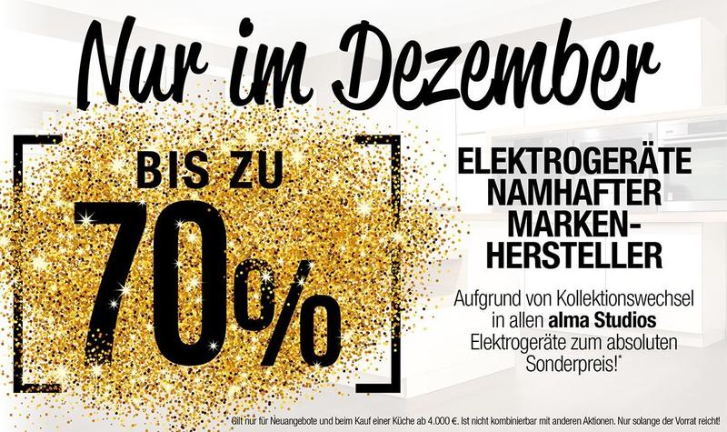 alma KÜCHEN - Aktion Nur im Dezember 2016